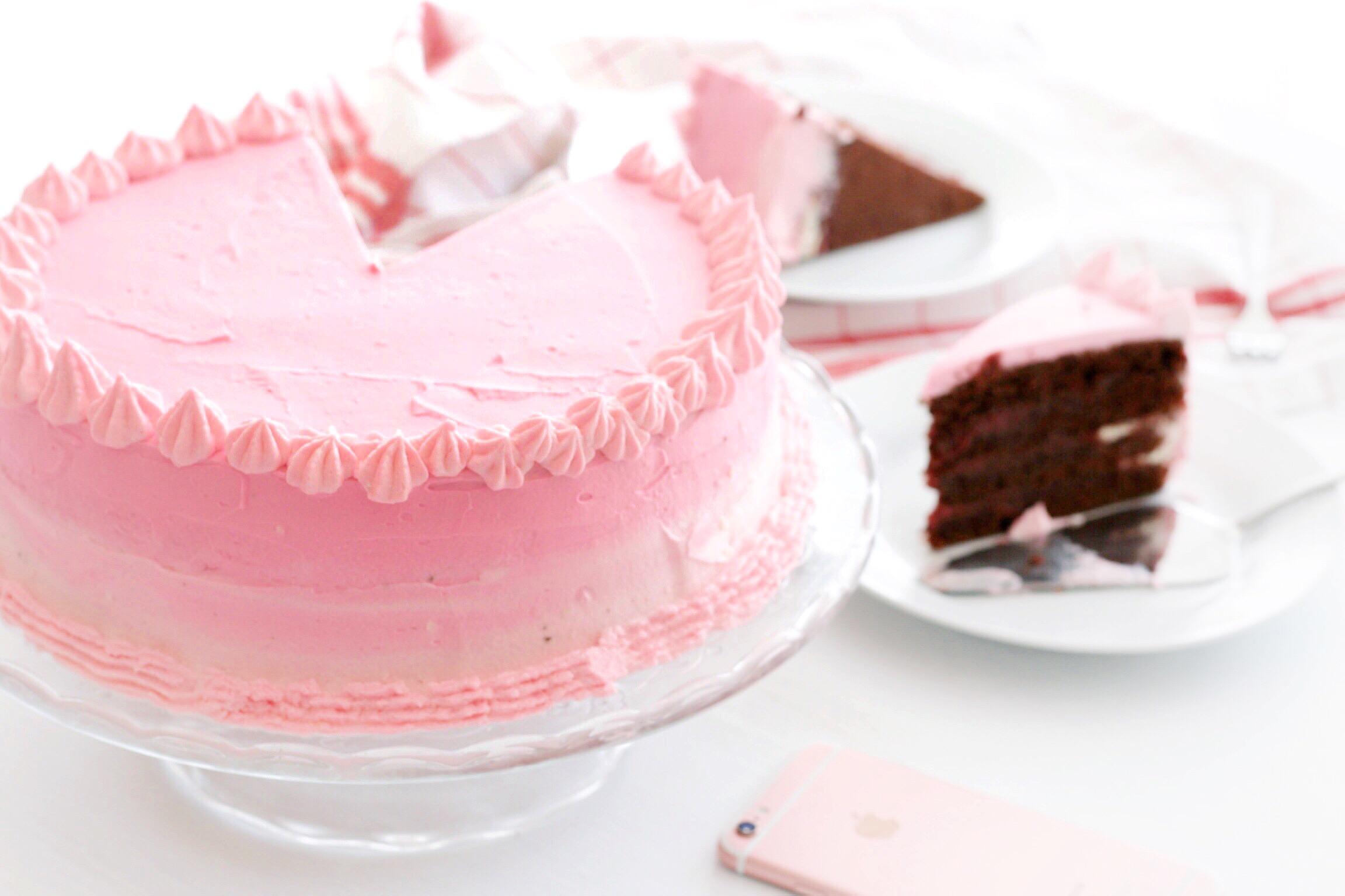 Trysha Gaba - Layer cake au chocolat et à la framboise 3