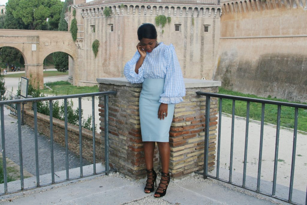 Baby blue à Rome