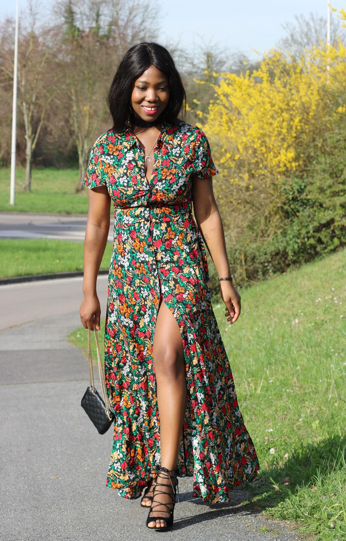 Robe Longue Fleurie Zara 2017