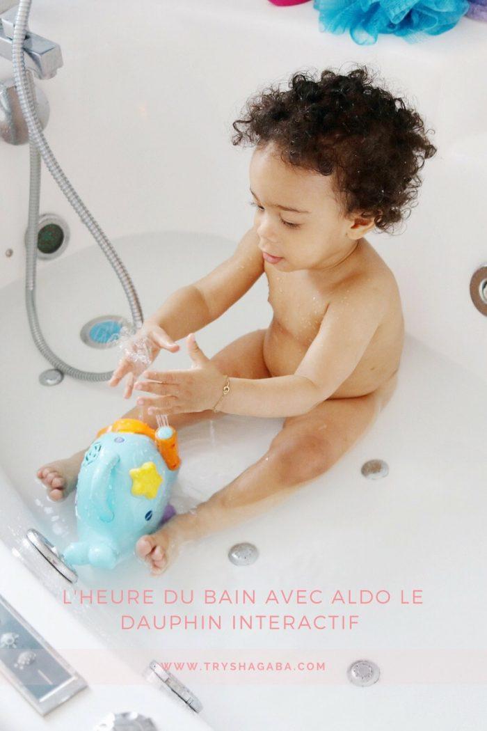 Aldo le dauphin, le copain de bain de chouchou