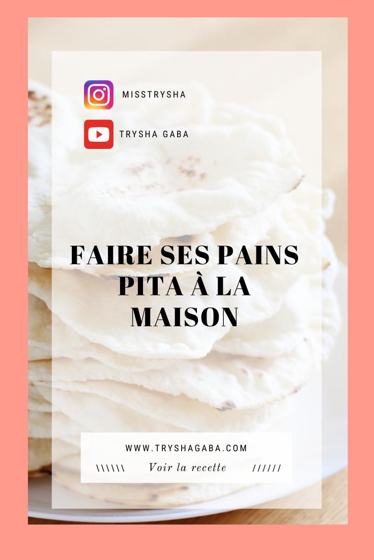 Trysha Gaba - Faire soi même son pain pita pinterest